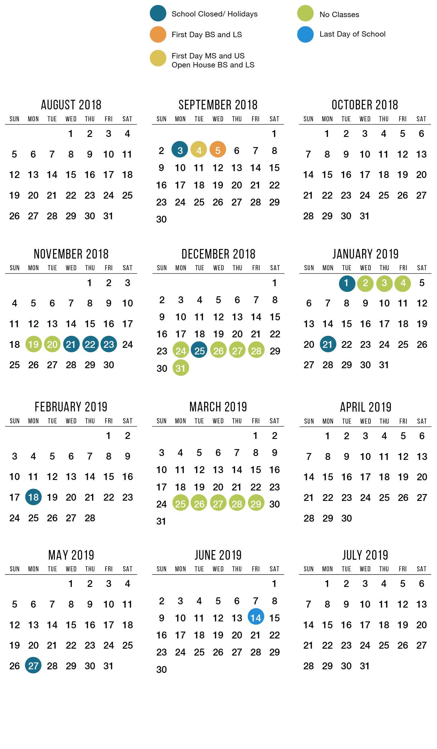 catlin gabel school 2018 19 major dates