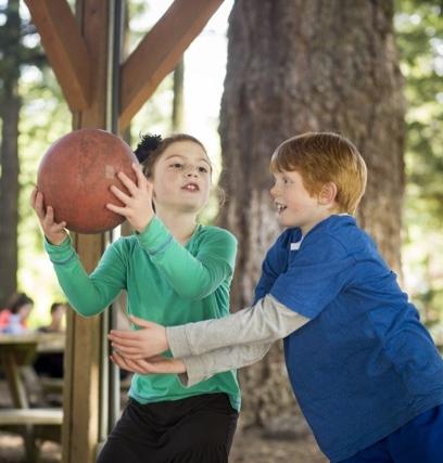 kids playing tether ball